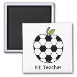 P.E. Imán de Apple del balón de fútbol del profeso