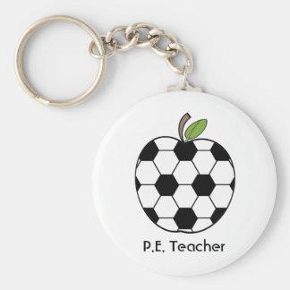 P E Llavero del profesor - balón de fútbol Apple