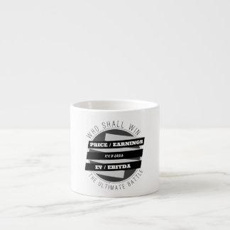 P/E Ratio versus EV/EBITDA Ratio Espresso Cups