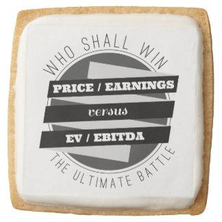 P/E Ratio versus EV/EBITDA Ratio Square Premium Shortbread Cookie