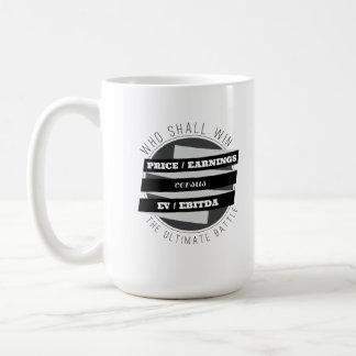 P/E Ratio versus EV/EBITDA Ratio Coffee Mugs