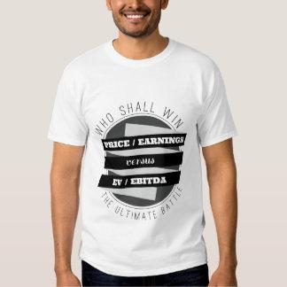 P/E Ratio versus EV/EBITDA Ratio Tee Shirt