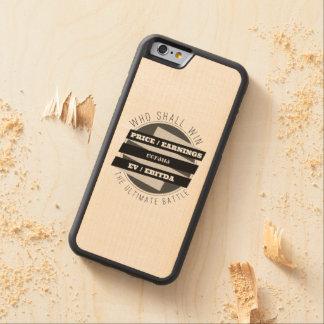 P/E Ratio versus EV/EBITDA Ratio Carved® Maple iPhone 6 Bumper Case