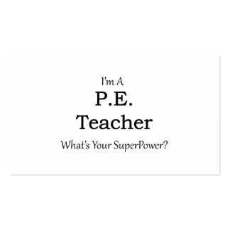 P.E. Teacher Business Card