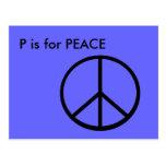 """""""P"""" está para el alfabeto Flashcard de la paz Postales"""