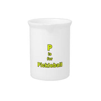 p está para el amarillo black.png del pickleball jarra de beber