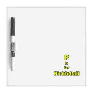 p está para el amarillo black.png del pickleball pizarras blancas