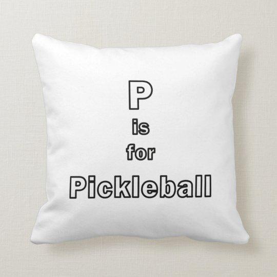 p está para el esquema only.png del pickleball cojín decorativo