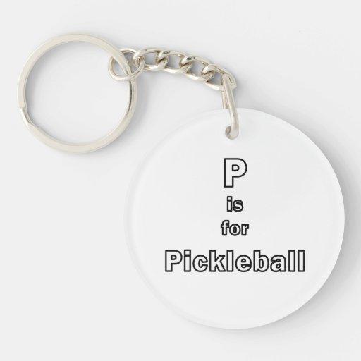p está para el esquema only.png del pickleball llavero redondo acrílico a doble cara