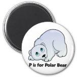 P está para el oso polar imán para frigorífico