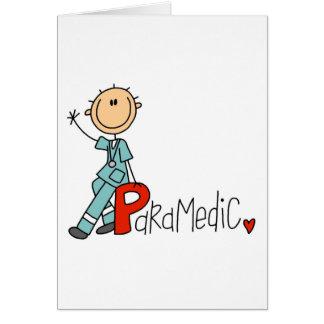 P está para el paramédico tarjeta de felicitación