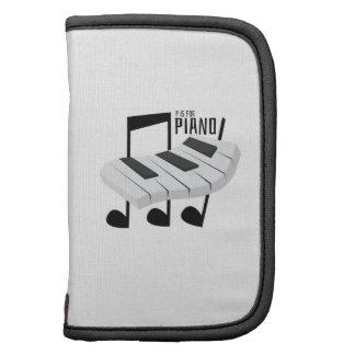 P está para el piano organizadores