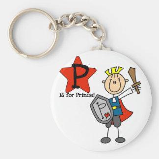 P está para el príncipe Tshirts y regalos Llaveros