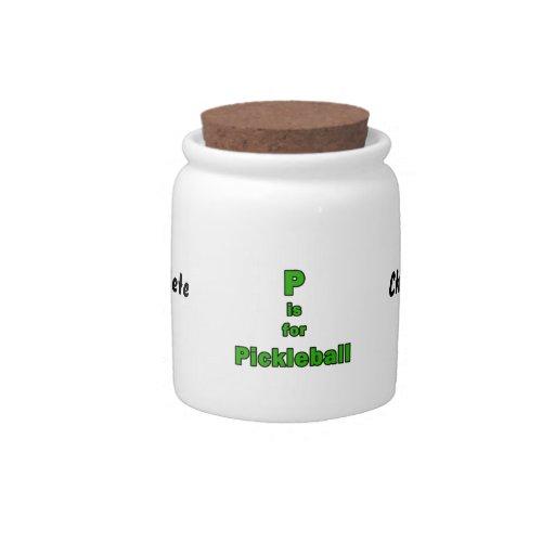 p está para el verde black.png del pickleball jarras para caramelos