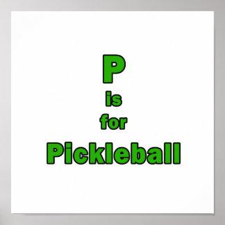 p está para el verde black.png del pickleball posters
