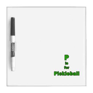 p está para el verde black.png del pickleball tablero blanco