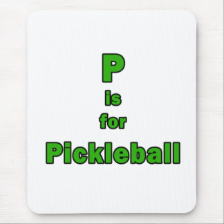 p está para el verde black.png del pickleball tapetes de ratón