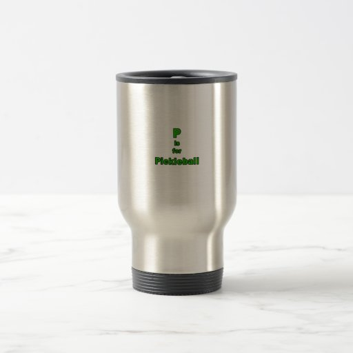 p está para el verde black.png del pickleball taza de café