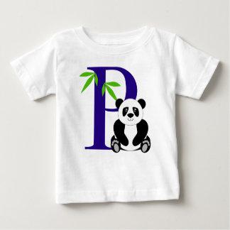 P está para la panda playera de bebé