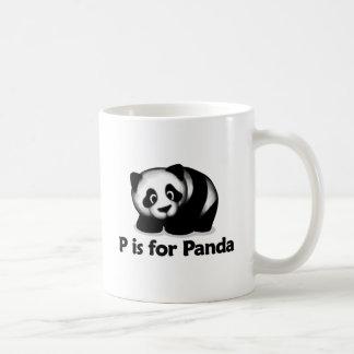 P está para la panda taza