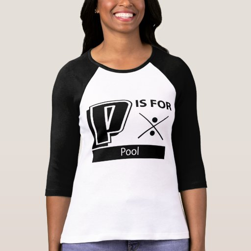 P está para la piscina camiseta