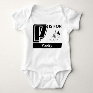 P está para la poesía body para bebé