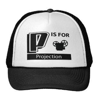 P está para la proyección gorras
