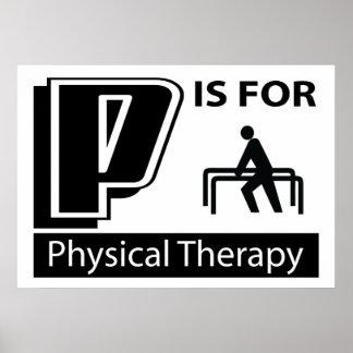 P está para la terapia física posters