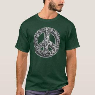 P-FloralPeaceSign-Large-Tra T-Shirt