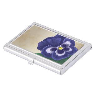 Alphabetical business card holders cases zazzle p for pansy floral alphabet monogram business card holder colourmoves