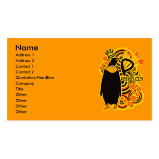 P for Penguin Business Card Template