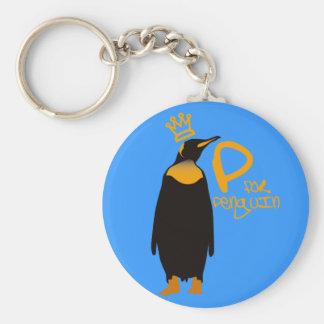 P for Penguin Keychain