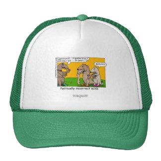 P.I. Mink (Human Stole) Cartoon On Cap Hat