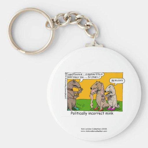 P.I. Mink (Human Stole) Cartoon On Novelty Magnet Key Chains