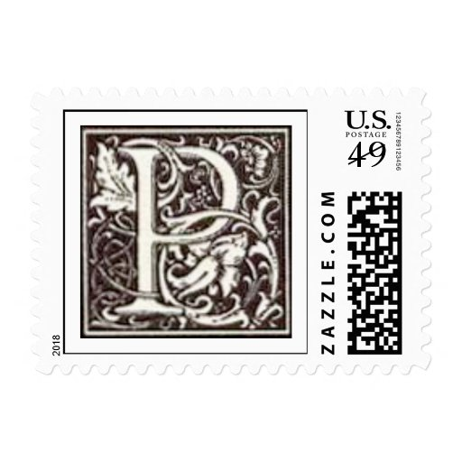 P initial stamps