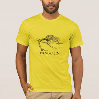 P is for Pangolin t-shirt