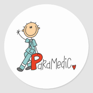 P is for Paramedic Classic Round Sticker