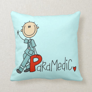 P is for Paramedic Throw Pillow