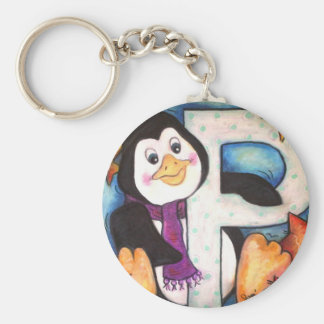 P is for Penguin Keychain
