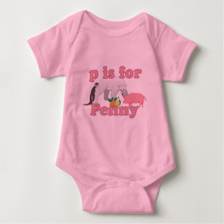 P is for Penny Baby Bodysuit