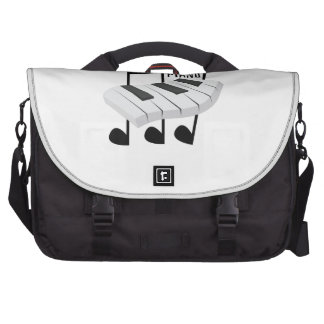 P Is For Piano Laptop Messenger Bag
