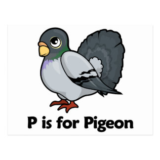 P is for Pigeon Postcard