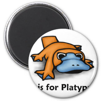 P is for Platypus Magnet