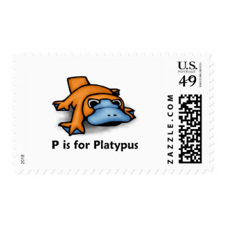 P is for Platypus Stamp
