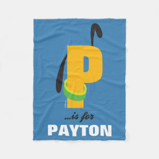 P is for Pluto | Add Your Name Fleece Blanket