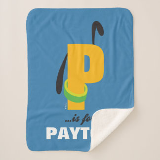 P is for Pluto | Add Your Name Sherpa Blanket
