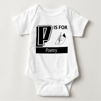 P Is For Poetry Baby Bodysuit