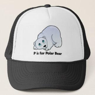 P is for Polar Bear Trucker Hat