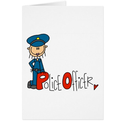 P is for Police Officer Greeting Card