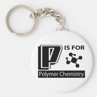 P Is For Polymer Chemistry Keychains
